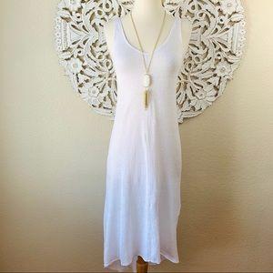 {Calypso St. Barth} White Linen Maxi Dress